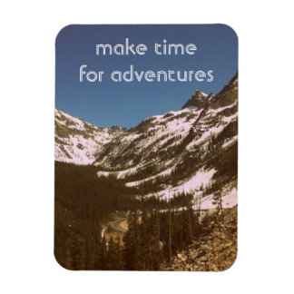 Make Time For Adventures Rectangular Photo Magnet