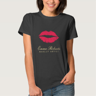 Makeup Artist Red Lips Dark Tee Shirt