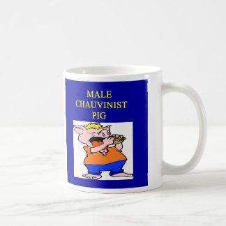 male chauvinist pig, male chauvinist pig basic white mug