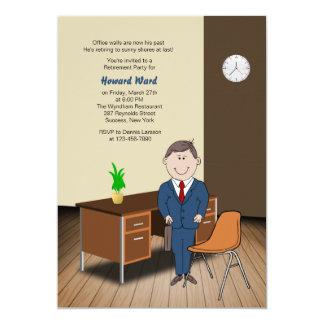 Male Office/School Employee Retirement Invitation