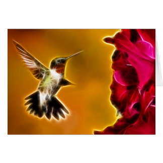 Male Ruby-throated Hummingbird Note Card
