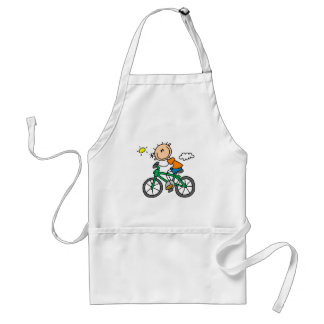 Male Stick Figure Bicyclist Tshirts and gifts Standard Apron