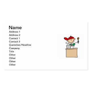 Male Stick Figure Cook Pack Of Standard Business Cards
