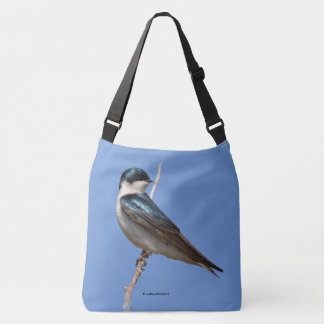 Male Tree Swallow Stands on Guard Tote Bag