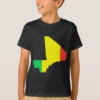 Mali flag map t-shirts