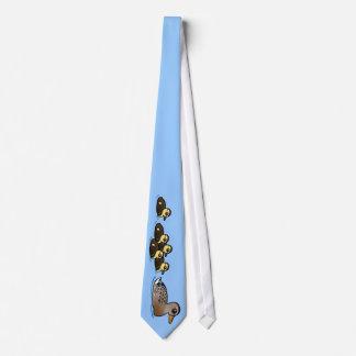 Mallard & five ducklings tie