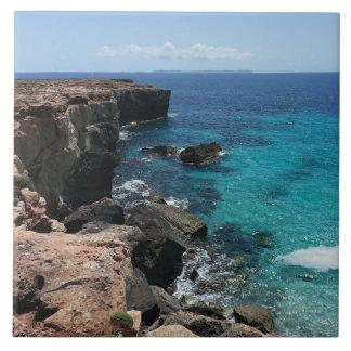 Mallorca Coast, Balearic Islands, Spain Large Square Tile