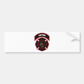 Maltese Cross - Captain (Red Helmet) Bumper Sticker