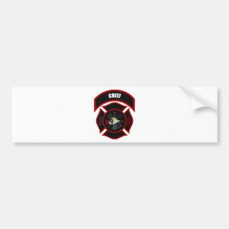 Maltese Cross - Chief Bumper Sticker