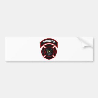 Maltese Cross - Firefighter Bumper Sticker