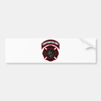 Maltese Cross - Firefighter/EMT Bumper Sticker