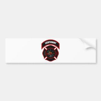 Maltese Cross - Lieutenant (Red Helmet) Bumper Sticker