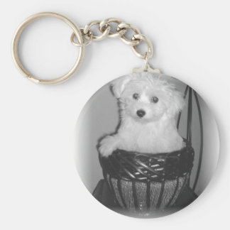 MaltiPoo Products Basic Round Button Key Ring