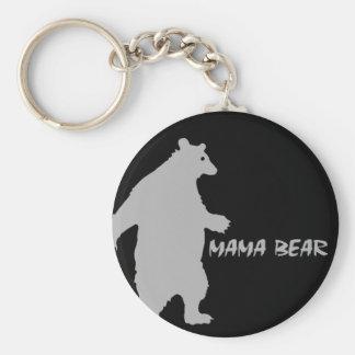 Mama Bear Basic Round Button Key Ring
