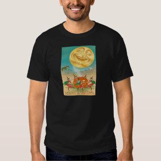 Man In The Moon Bat Witch Jack O Lantern Tees