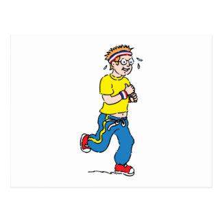 Man Jogging Postcard