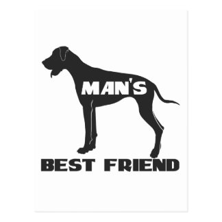Man's Best Friend fun dog silhouette Postcard
