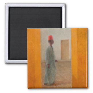 Man Tangier Street 2012 Square Magnet