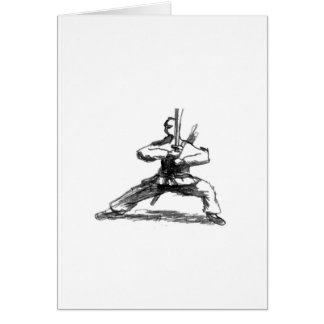 Man With Sword Greeting Card