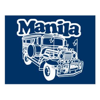Manila Jeepney Postcard