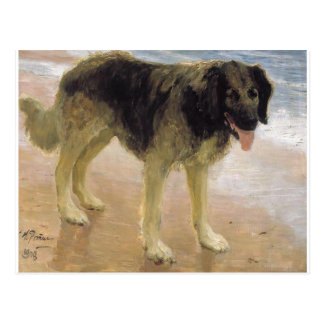 Man's best friend by Ilya Repin Postcard