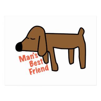 Mans Best Friend Postcard