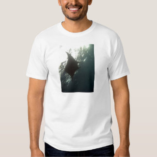Manta ray swimming overhead shirts