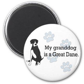 Mantle Great Dane Granddog 6 Cm Round Magnet