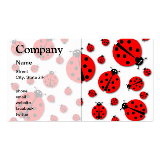 Many Ladybugs Shadows Pack Of Standard Business Cards
