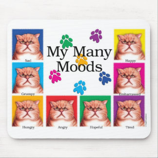 Many Moods Mouse Pad