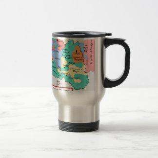 Map circa 1260 stainless steel travel mug