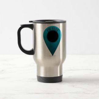Map Marker Stainless Steel Travel Mug