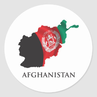Map Of Afghanistan Round Sticker