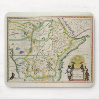 Map of Ethiopia showing five African states Mouse Pad