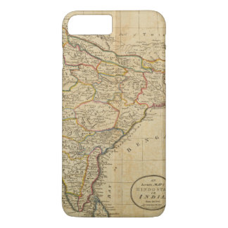 Map of Hindostan or India iPhone 7 Plus Case