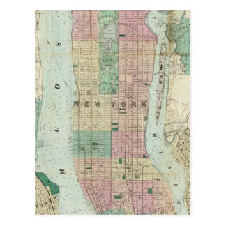 Map of New York and Vicinity Postcard