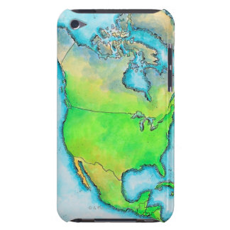Map of North America Barely There iPod Covers