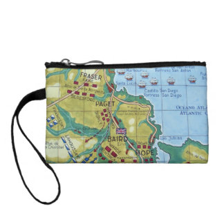 Map of the Battle of Corunna Coin Wallet