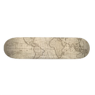 Map of the World 2 21.6 Cm Skateboard Deck