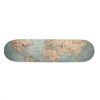 Map of the world on Mercator's projection Skateboard Deck