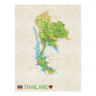 MAP POSTCARDS ♥ Thailand
