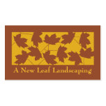 Maple Leaf Landscaping Pack Of Standard Business Cards