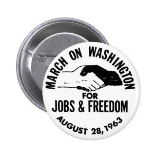 March on Washington 1963 6 Cm Round Badge