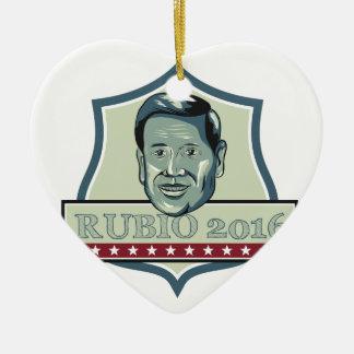 Marco Rubio 2016 Republican Candidate Ceramic Heart Decoration