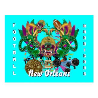 Mardi Gras Dragon King View Hints please Postcard