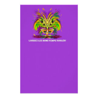 Mardi-Gras-Mask-The-Queen-V-4 Custom Stationery