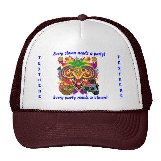 Mardi Gras Party Clown View Hints Please Cap