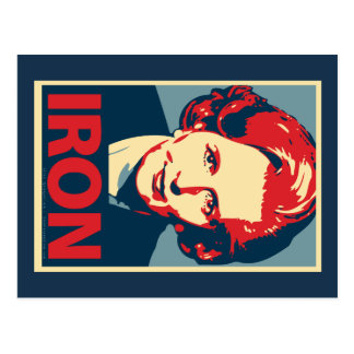 "Margaret Thatcher ""Iron"" Postcard"