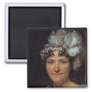 Marguerite Charlotte David Square Magnet