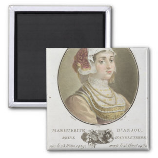 Marguerite d'Anjou (1429-82) engraved by Ride, 178 Square Magnet
